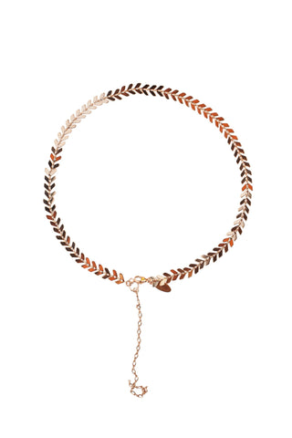 Chevron Choker in Gold, Silver or Rose Gold