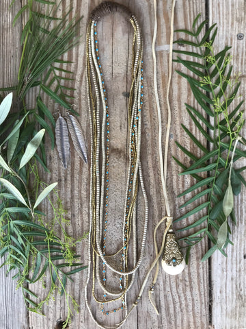 Holiday Bundle 7: Boho Necklaces and Feather Earrings
