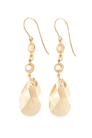 Double Crystal Drop Empress Earring