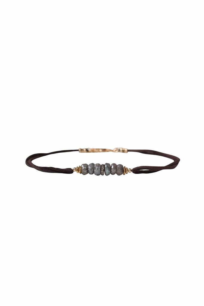 Pave Single Diamond Labradorite Choker