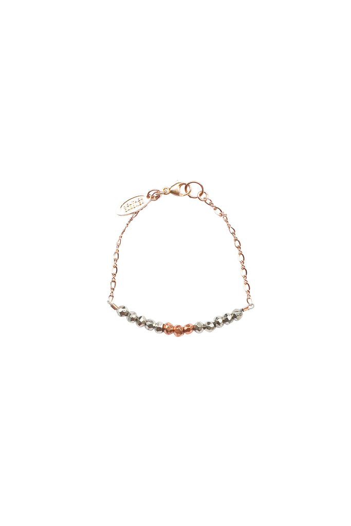 Mermaid Gemstone Kids Bracelet in Rose Gold w/Gunmetal