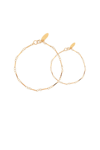 The Sunshine Bracelet Mommy and Me Set - Gold or Silver