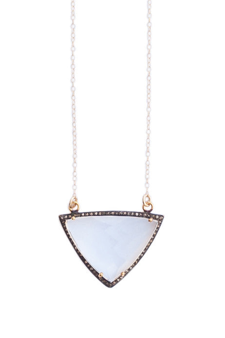 Moonstone Pave Diamond Gemstone Necklace