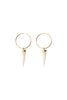 Mother of Pearl Horn Hoop Earring- Single or Pair