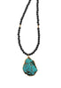 African Bead Turquoise Necklace