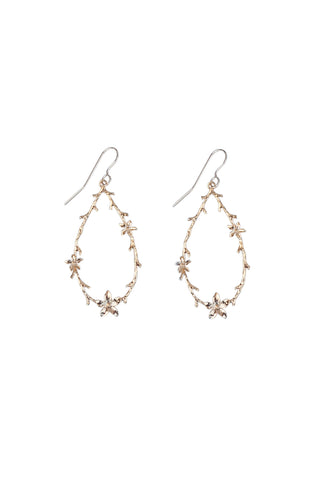 Floral Earring in Gold or Silver