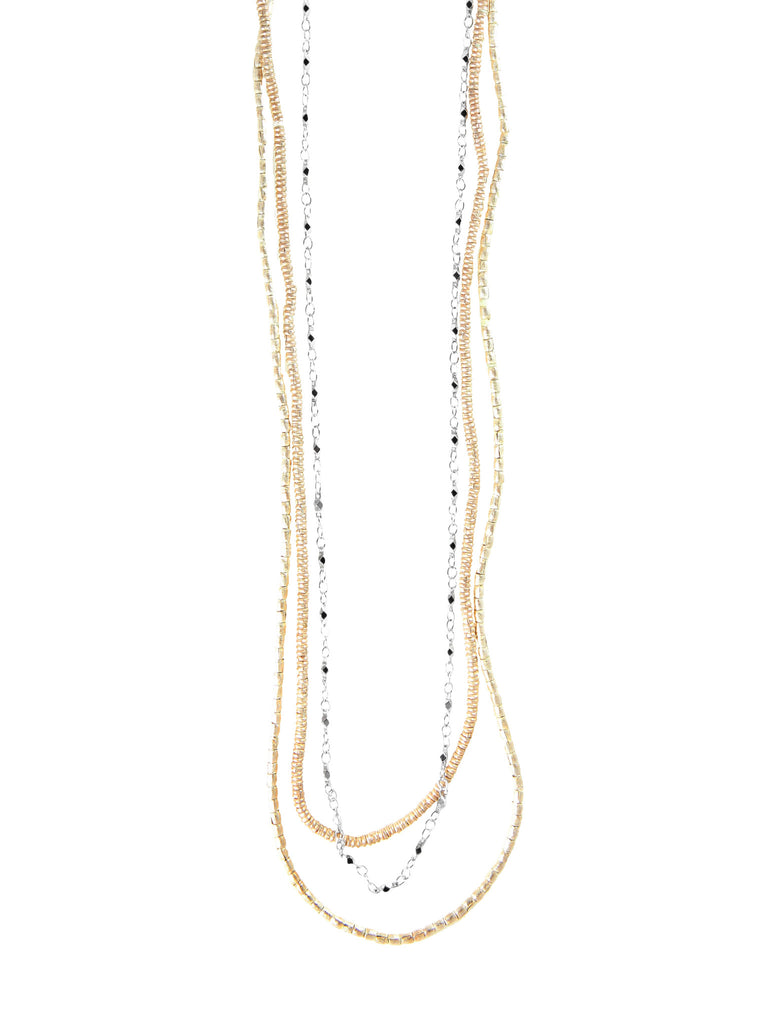 Triple Layer Petite Crystal Ethiopian Necklace