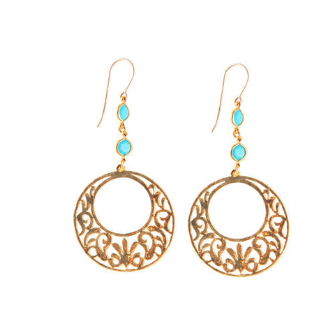 Mediterranean Sunshine Crystal Earrings
