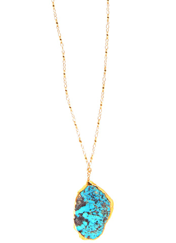 Turquoise Slice Necklace