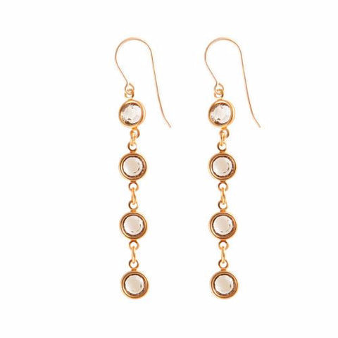 Classy Crystal Drop Earrings