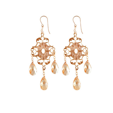 Boho Chic Crystal Earrings