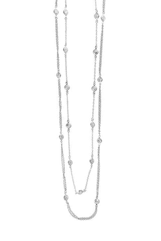 Double Layer CZ Necklace