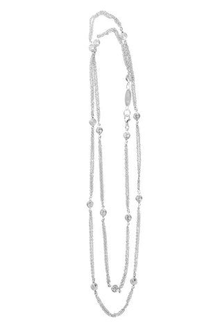 CZ Large Round Double Chain Layer Necklace