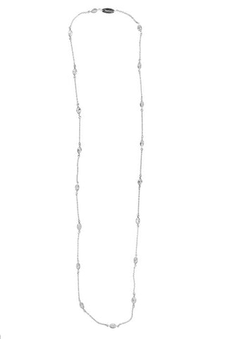 CZ Oval Layer Necklace