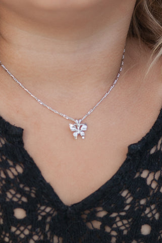 The Butterfly Necklace in Silver