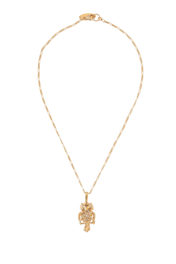 The Owl Necklace in Gold - ONLY ONE LEFT
