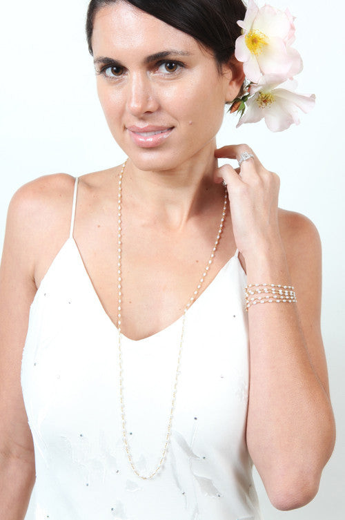 Bridal Basic Strand Long Necklace