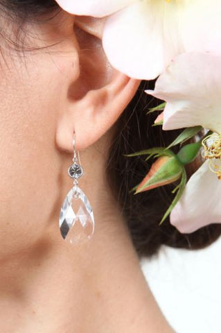 Single Drop Crystal Earring