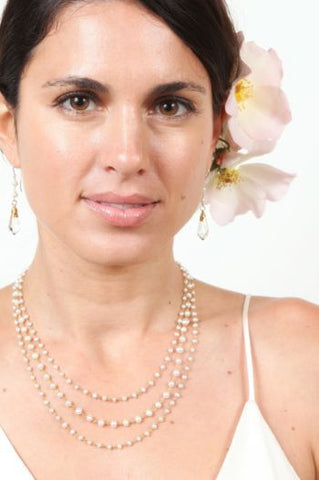Triple Pearl Elegance Necklace