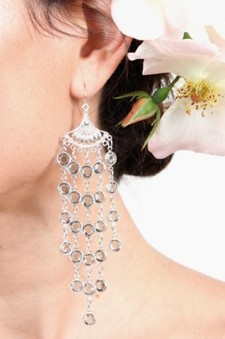 Bridal Chandelier Crystal Earrings