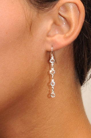 Classy Petite Crystal Drop Earrings