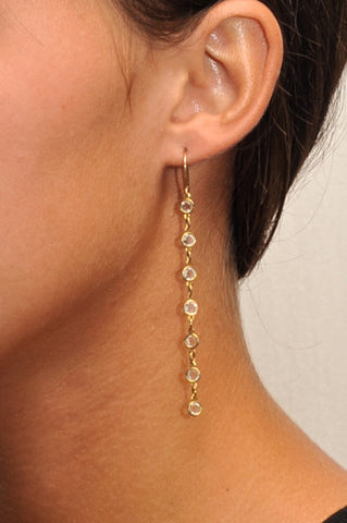 Foxy Petite Crystal Drop Earrings