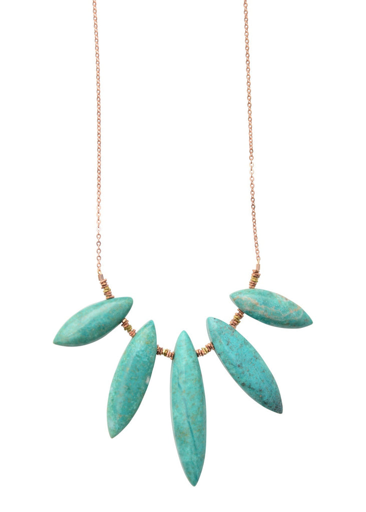 Turquoise Spike Choker Necklace