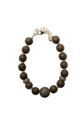 Black Diamond Bead Bracelet