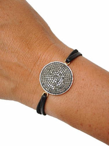 Sundial Black Diamond Bracelet