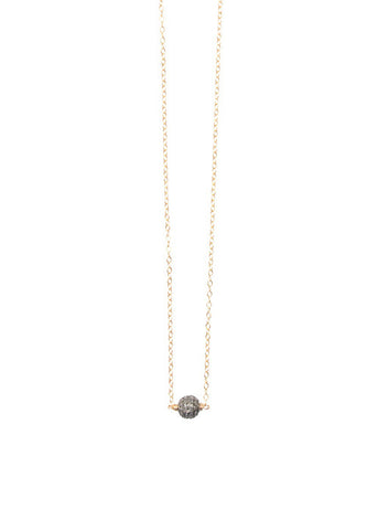 Petite Diamond Ball Necklace