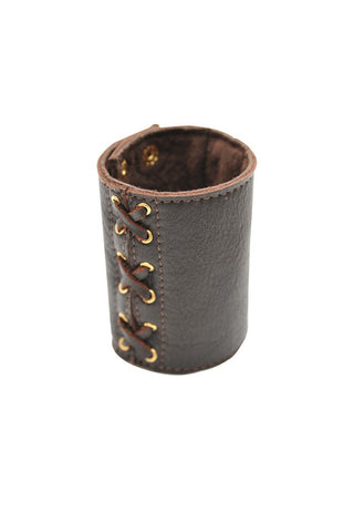 Leather Lace Up Cuff
