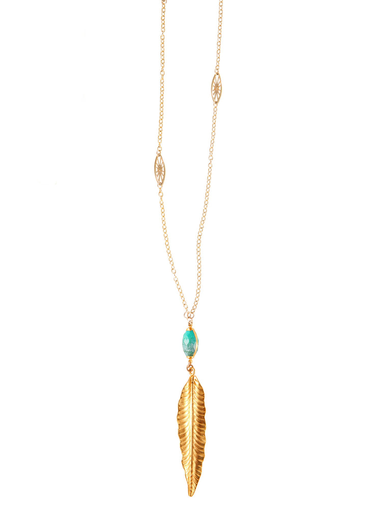Montana Turquoise Feather Necklace