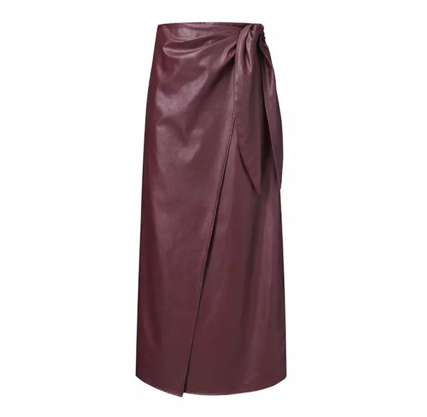 Leah Leather Skirt