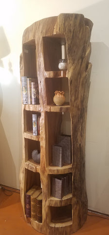 Acacia Solid Wood Bookcase