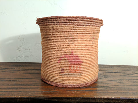 Nice Antique American Folk Art Coil Basket, circa 1890-1910
