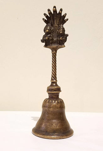 Rare Early 19th Century Bronze Ritual Bell, Nepal
