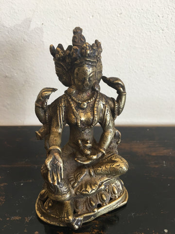 Antique Bronze Image of Lord Vishnu from Nepal