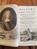 First Edition, Claredon's History of the Rebellion and Civil Wars in England, 1702 Volume 1&2
