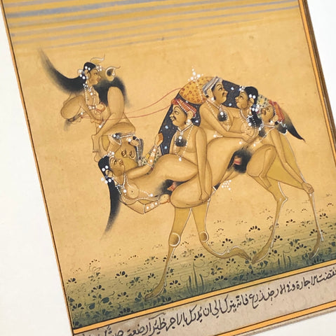 Mughal Miniature painting of a Camel - erotic