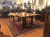 "Acacia Single Slab Dining Table with Iron T Legs 48"" x 94"""