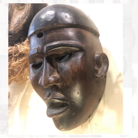 Yombe ceremonial mask Congo african art