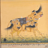 Mughal Miniature painting of a Dog - erotic