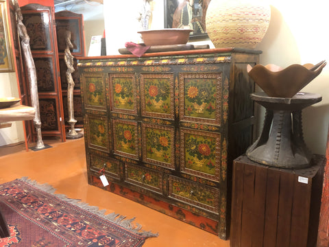 Household Tibetan Cabinet Eight Panels