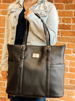 Commerce Tote (Night Sky Black) - Lifestyle