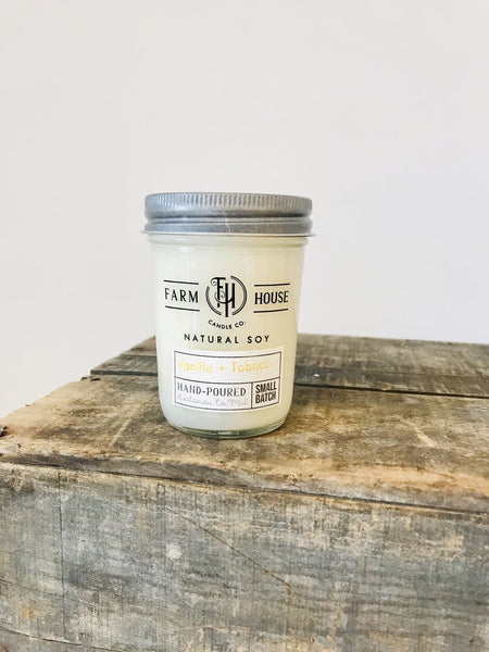 FH Candle Co. | Vanilla + Tobacco Candle