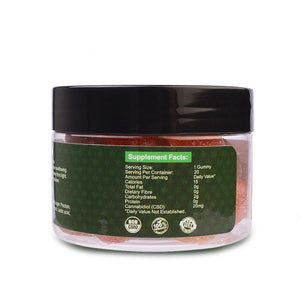 Green Jungle CBD gummies back of tub