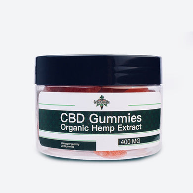 Green Jungle CBD Gummies on white background