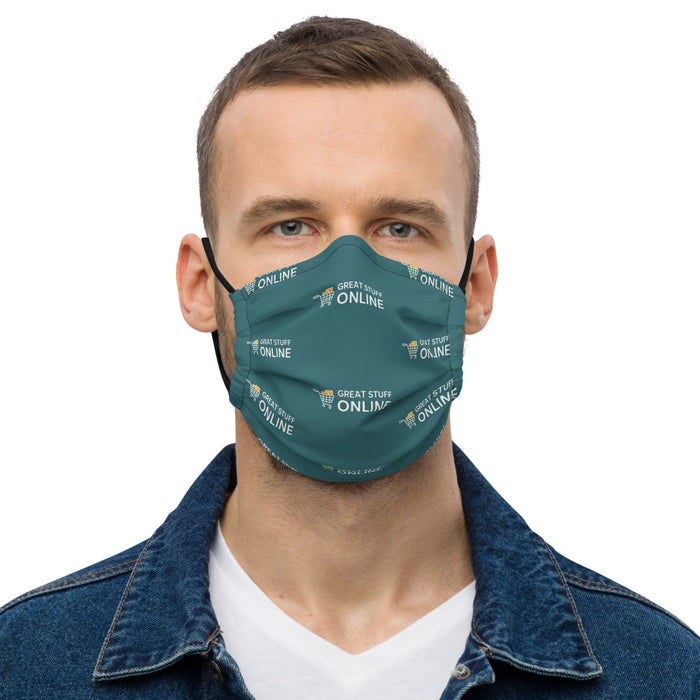 GSO All-Over Print Premium Face Mask - Great Stuff OnlineGreat Stuff Online Black