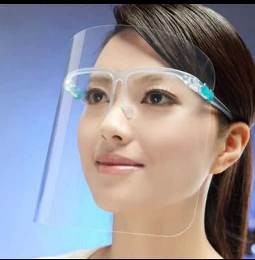 Clear Face Shield With Glasses - Great Stuff OnlineGreat Stuff Online