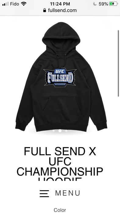 100% Authentic Brand New FULL SEND X UFC CHAMPIONSHIP HOODIE - Great Stuff OnlineGreat Stuff Online